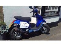 Yamaha BWS 50cc moped 12 months MOT