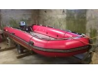 Excel Boats 535 XHD Inflatable, 30hp Mariner Outboard, Trailer