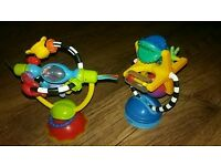 2 baby high chair toys with suckers