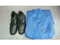 Worn once man tracksuits and safety boots