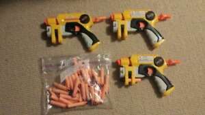 Nerf Night Finder x3 + Bullets - Working condition