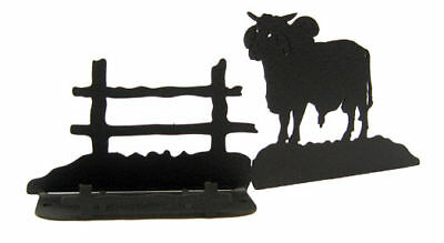 Brahma Bull Black Metal Business Card Holder