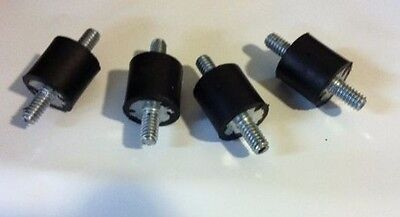 4 Rubber Vibration Isolator Mounts 14-20 34 X 34 Made In The Usa