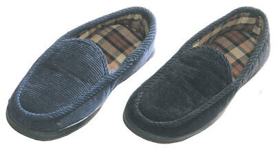 Maschismo Mens Slippers House Shoes Corduroy Slip On Moccasin Indoor Outdoor Corduroy Slip Ons