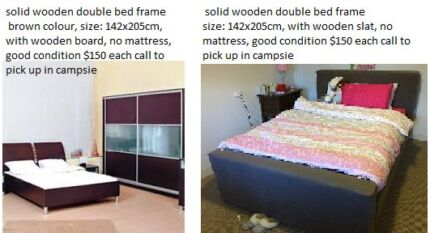 2 sets solid double bed frame Campsie Canterbury Area Preview
