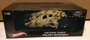 THE DARK KNIGHT TRILOGY BATMOBILE 1:18 SCALE & A FREE ....