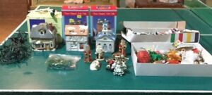 CERAMIC CHRISTMAS HOUSES & ORNAMENTS