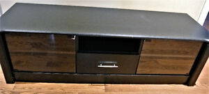 "Sonax BX-6010 60"" Midnight Black Bromley 60"" TV Component Stand"