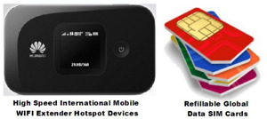 Mobile WIFI Hotspot/Extender Device/Global SIM Card/Mobile Acc..