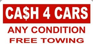 Cash for unwanted vehicles any condition running or not
