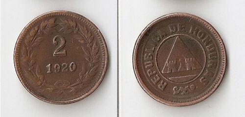 Honduras 2 centavos 1920 High grade!!!