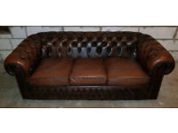 Chesterfield sofa (some loose buttons and lots of wear)
