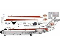Allegheny  Mc Donnell Douglas DC-9-31 airliner decals for Airfix 1//144 kits