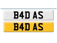 U.K. Number Plate 'B4 DAS'