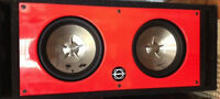 """2 - 10"""" Clarion Subs in a ported Bassworx Box"""