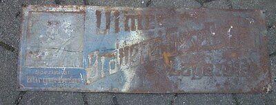 altes Blechschild Ulmer Brauerei Gesellschaft