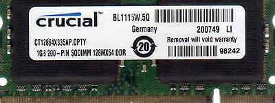 1gb Averatec 4200 4265 4270 5400 6100 6200 6240 7100 7115 7155 7160 Ddr Memory