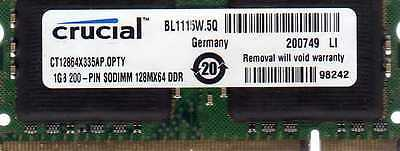 1gb Panasonic Toughbook Pc2700 Ddr333 Ddr/ddr1 Laptop/notebook Ram Memory