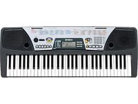Yamaha psr 175. 61-key keyboard with over 100 voices. Adjustable stand included.