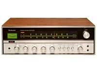 Vintage 70's Technics SA-5200A FM/AM Stereo receiver amplifier - Wooden finish - Very good condition