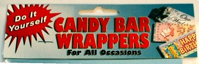 Do It Yourself Candy Bar / Chocolate Wrappers (10 pack) 12 Themes *Great Favors* Themed Chocolate Bar