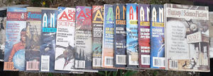 Lot of 12 science fiction pulps/magazines, 1990s