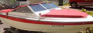 Bowrider with galvanized trailer, 90 HP Mercury outboard