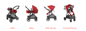 $400 Gb Lyfe stroller/travel system and extra car seat