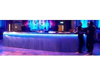 Silver Chainmail Racecourse Bar with colour change fibre optic lighting – IMPRESSIVE