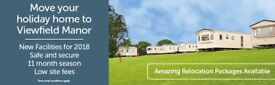 LOVE YOUR STATIC CARAVAN BUT NOT YOUR PARK, BRING YOUR CARAVAN TO VIEWFIELD MANOR IN AYRSHIRE