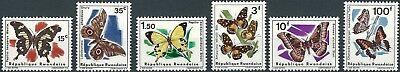 Ruanda - Schmetterlinge Satz postfrisch 1966 Mi. 147-152