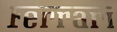 "FERRARI Chrome mirror logo die cut Vinyl Sticker Decal, logo. 9"""