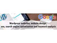 Web Design, Development, SEO (search engine optimisation), Keyword analysis. Google. Start ups
