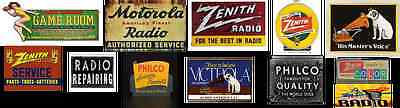 o scale radio and television building decals