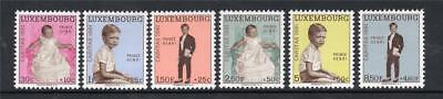 LUXEMBOURG MNH 1961 SG699-704 NATIONAL WELFARE FUND
