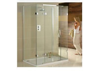 Brand new & unopened Aquadart 3 sided 1200 x 900 shower enclosure