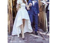 10/12 ivory wedding / evening dress