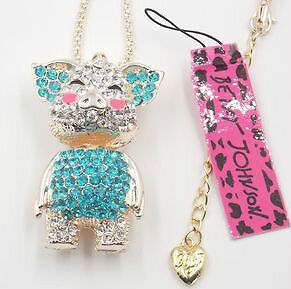 NWT-Betsey Johnson Collection Crystal & Enamel Pendant Necklaces