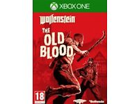 XBOX ONE Wolfenstein The Old Blood Game - Like new