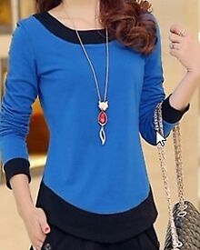 Blue & Black Womens Top - ***NEW***