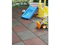 Wanted rubber slabs tiles mats for outdoor childrens playground play area