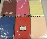 $10 for 30 New Rectangular Tablecloths - 6 Colors to Choose From