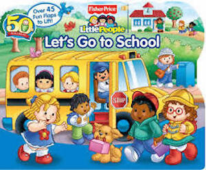 Bundle of Little People items - lift the flap book, puzzle, cars