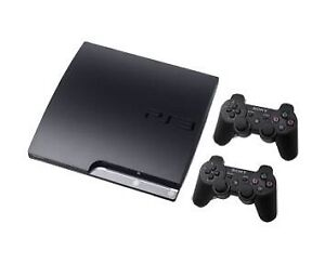 PS3 slim with 10 games 2 controllers