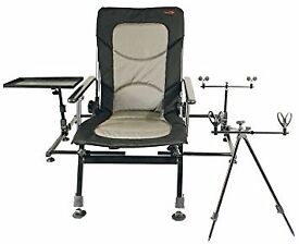 Fishing Chair. TFGear Bank Boss Fully Loaded. As new never used complete with rod rests as picture