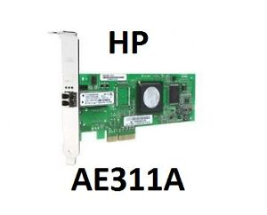 HP FC1142SR 4GB PCI-e SINGLE PORT FC HBA AE311A 407620-001 QLE2460
