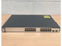 Cisco WS-C3750-24TS-E Catalyst Switch & Books