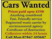 All cars vans 4x4s old farm machinery wanted .