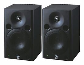 Pair of used Yamaha msp5 active studio monitors speakers