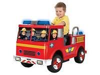 Fireman Sam powered fire engine ride-on.
